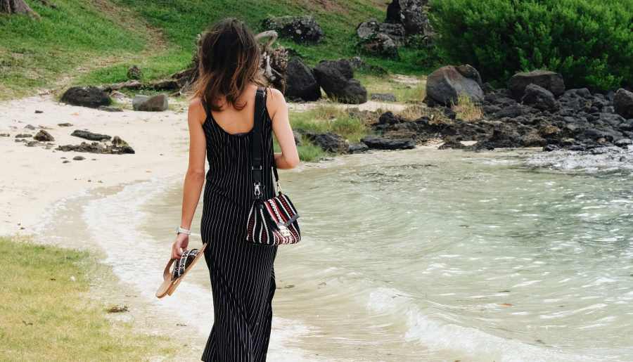 Long Strips Dress / Mauritius